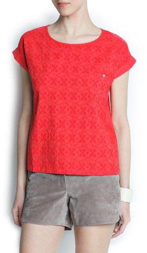 Pocket cotton blouse