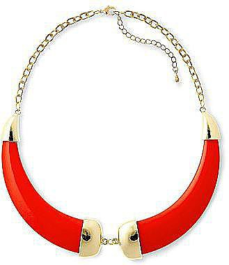 This Duro Olowu for JCP faux horn necklace ($25) is the perfect statement-making necklace to offset a silky blouse at the office.