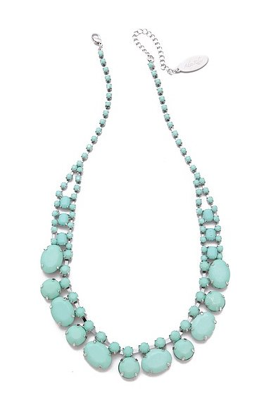 The pastel stones on this Adia Kibur short stone necklace ($45) feel particularly perfect for Summer.