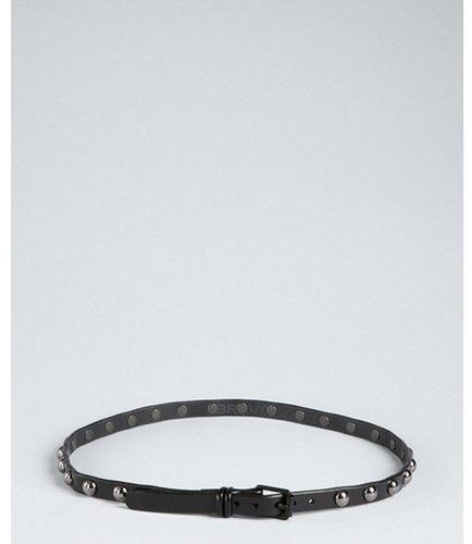 Brave Belts black leather studded belt