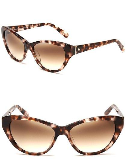 kate spade new york Della Speckled Cateye Sunglasses
