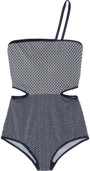 Stella McCartney Cutout printed swimsuit