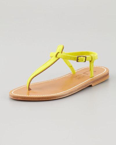 K. Jacques Picon T-Strap Thong Sandal, Yellow