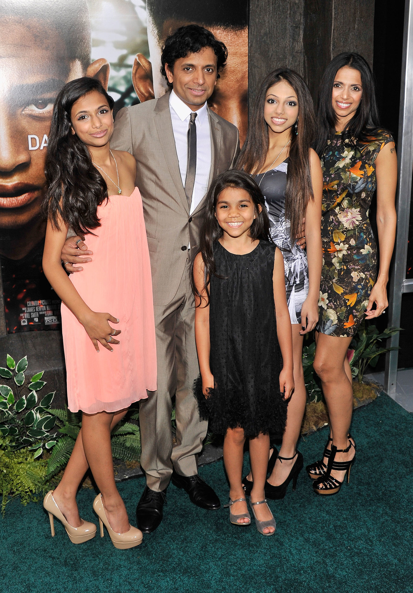 M Night Shyamalan Family M. Night Shyamalan and...