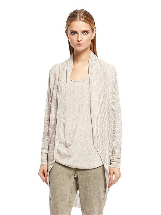Chances are good that starting this month, your office thermostat will be set to arctic. When I need to layer up indoors but don't want to be weighed down by a thick wool sweater, this DKNY linen cardigan ($195) does the trick. Plus, it's neutral enough to match whatever I'm wearing in case I need to take it out for a spin on a cool Summer night. — KS