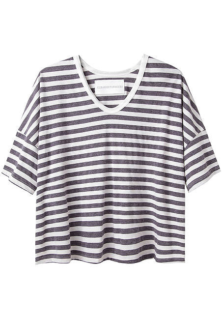 A striped tee is a Summer classic, but this Alexander Yamaguchi boxy stripe tee ($78) offers a laid-back twist on the staple. Just add this to white skinny jeans and your favorite sandals for an instantly seasonal look.  — HW