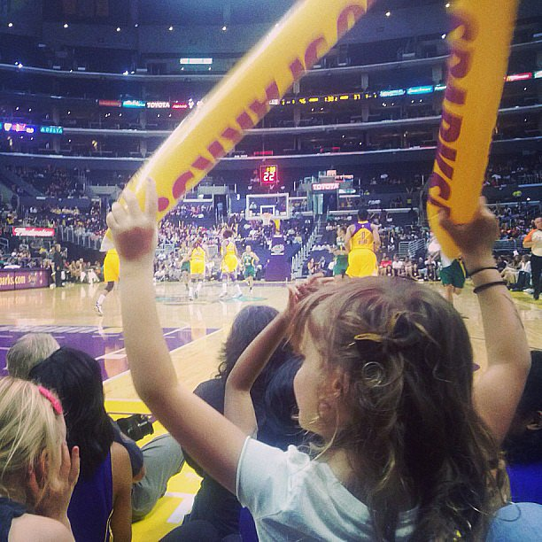 Jessica Alba took Honor to a women's basketball game over Memorial Day weekend. Source: Instagram user jessicaalba