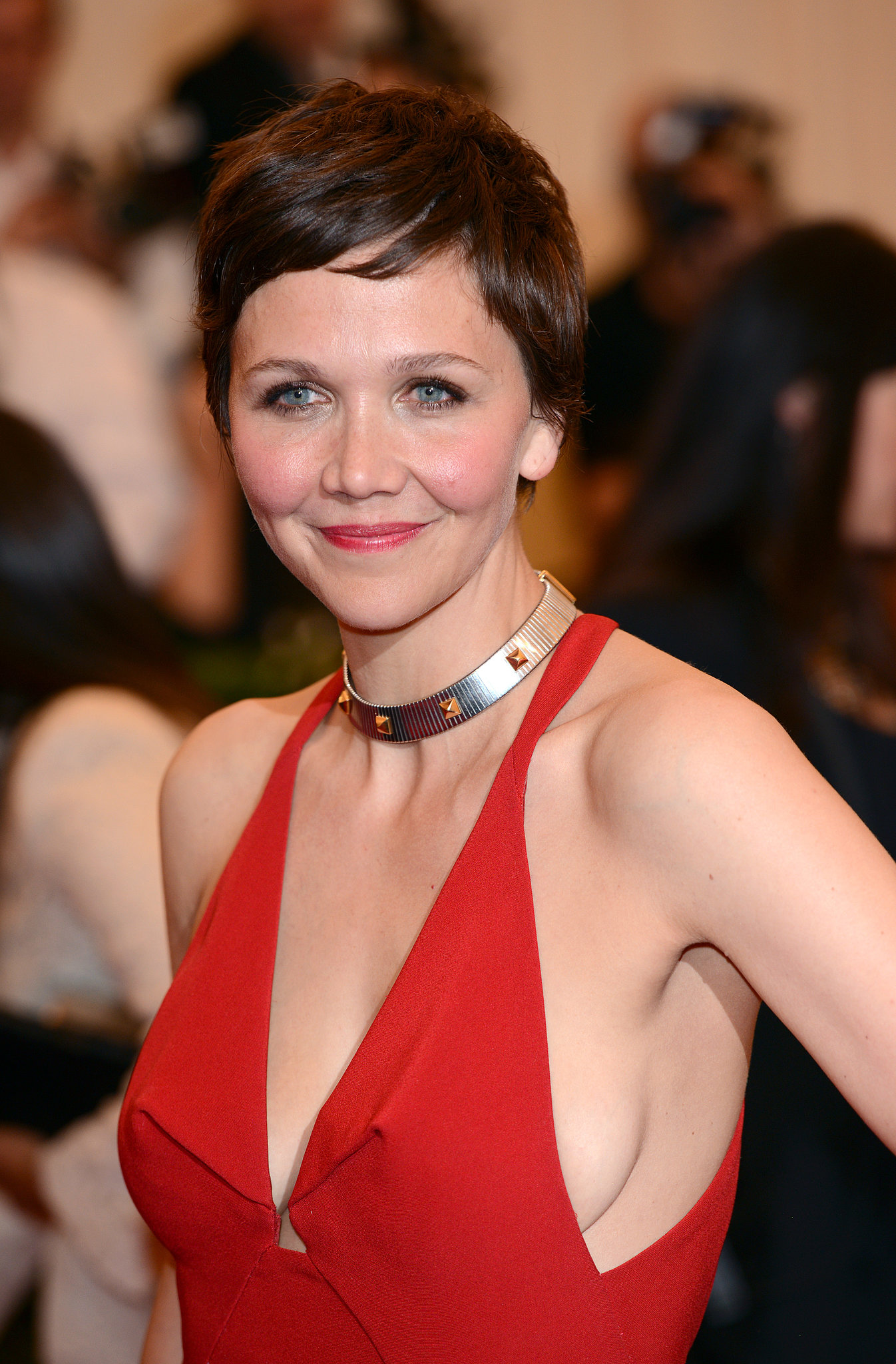 Actress Maggie Gyllenhaal recently took to the pixie cut, which she showed off at this year's Met Gala.