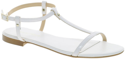 KG Match White Flat Sandals