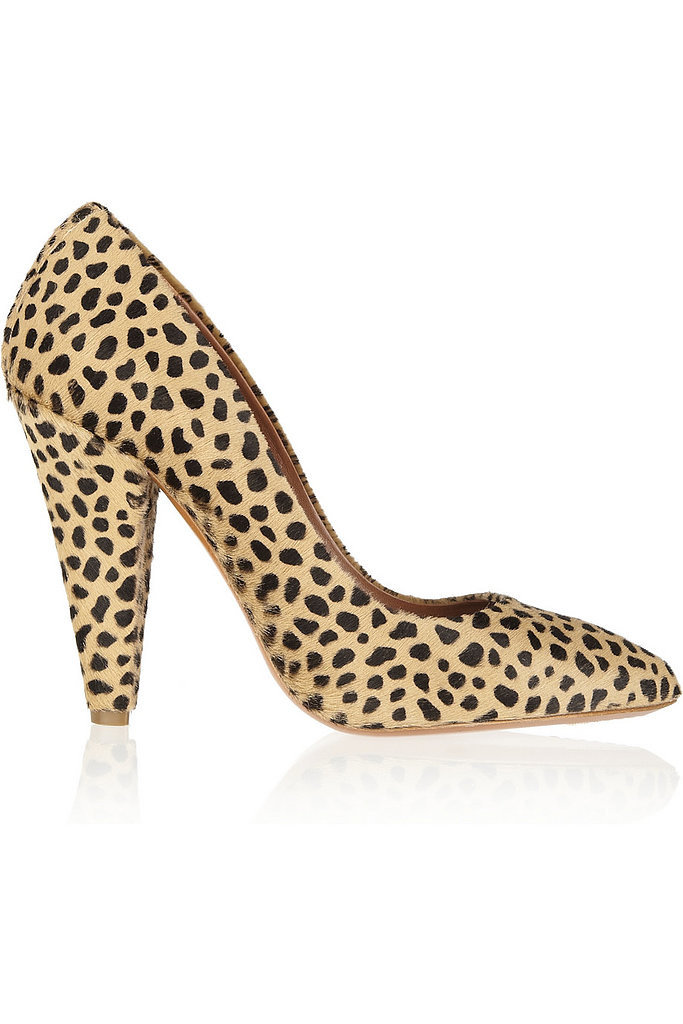 Leopard spots take a backseat to the classy giraffe print on this Mulberry pump ($365, originally $730).