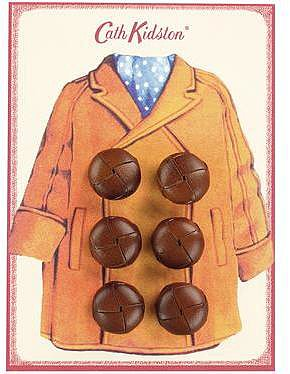 Duffle Coat Button Card
