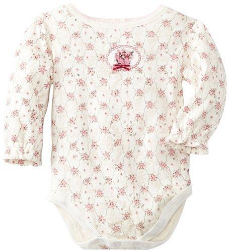 Vitamins Baby-girls Newborn Antique Floral Creeper