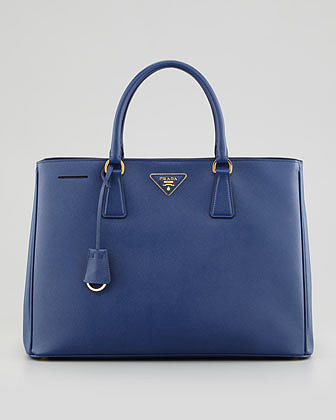 Prada Saffiano Gardener's Tote Bag, Bluette