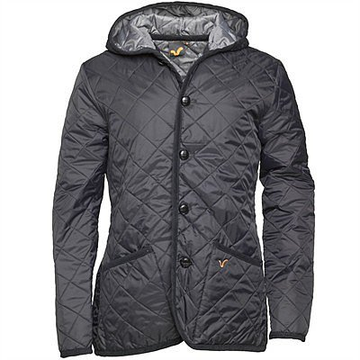 Voi Jeans Mens Queeny Quilted Jacket Black