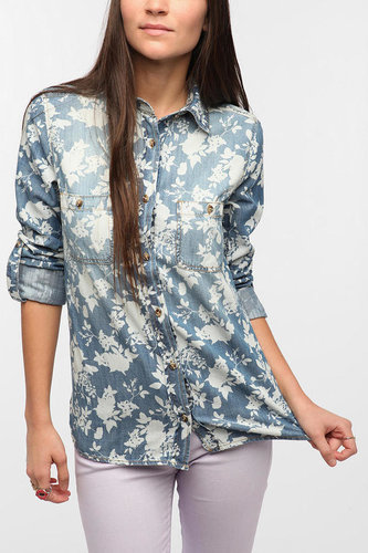 BDG Printed Denim Shirt