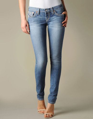 Womens Hand Picked Skinny Natural Big T Super T Flap Pocket Jean