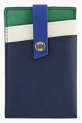 WANT LES ESSENTIELS DE LA VIE Navy multicolor Kennedy Money Clip Card holder