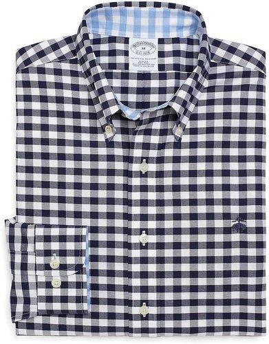 Non-Iron Slim Fit Oxford Gingham Sport Shirt