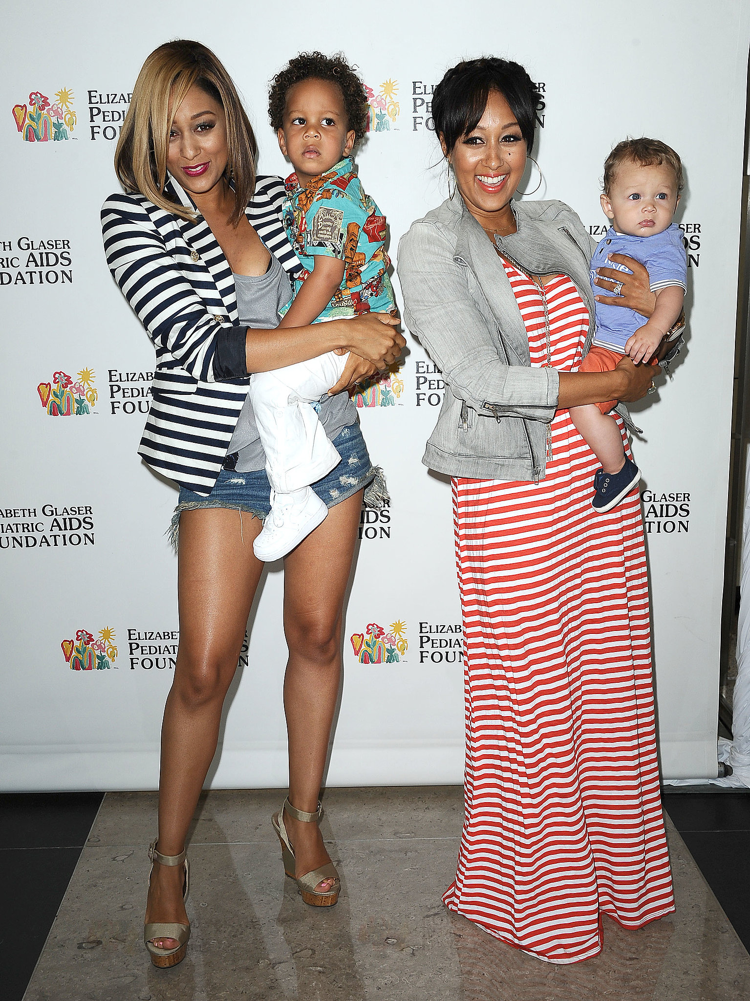 Tia Mowry and Tamera Mowry brought their babies with them.