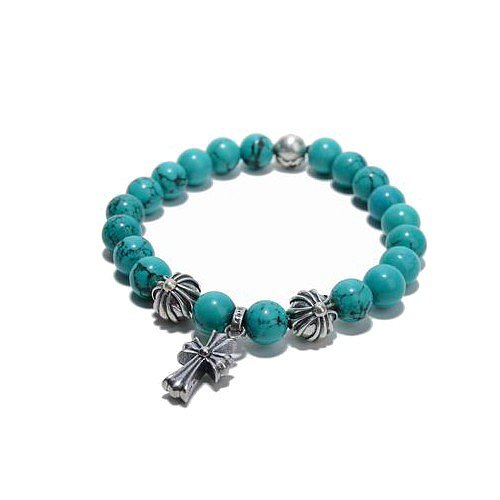 Chrome Hearts Beads Bracelet Turquoise Glass Bead