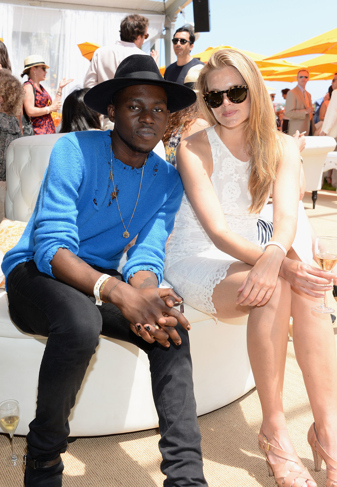 Theophilus London at the sixth annual Veuve Clicquot Polo Classic in Jer