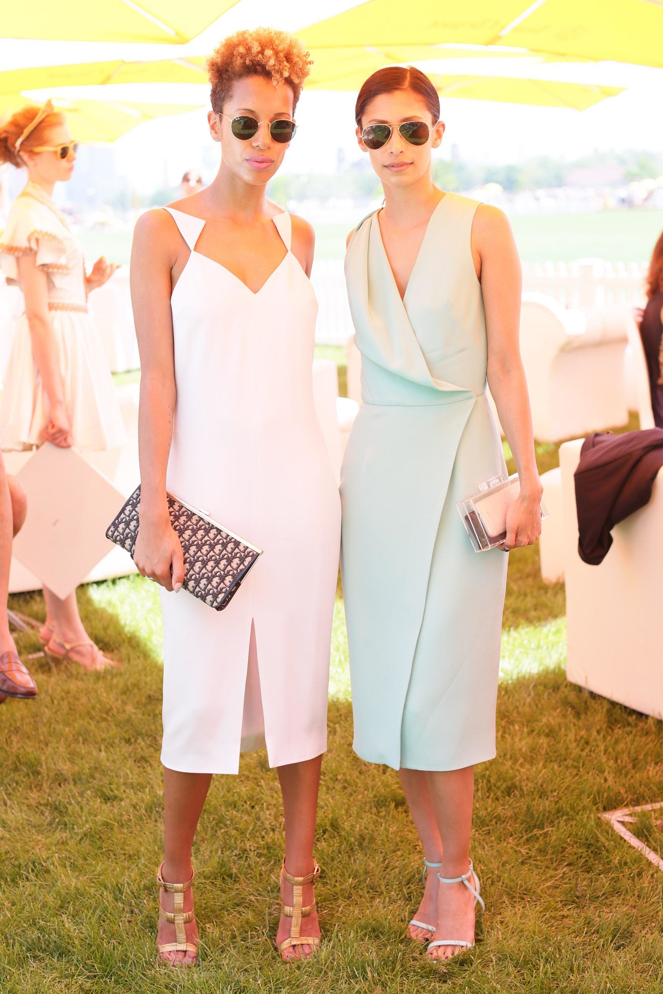 Cushnie et Ochs designer duo Carly Cushnie and Michelle Ochs at the sixth annual Veuve Clicquot Polo Classic in Jersey City, NJ. Source: David X Prutting/BFAnyc.com