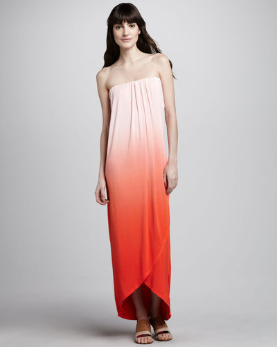 Young Fabulous and Broke Brooklyn Ombre Strapless Maxi Dress