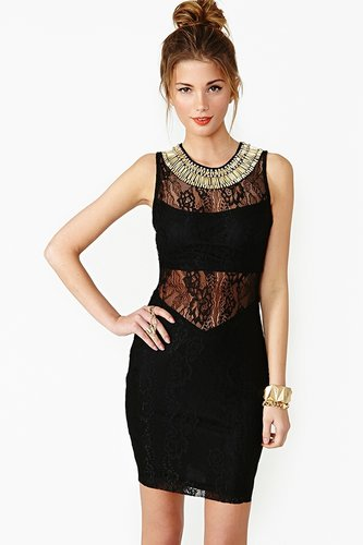 Gilded Lace Dress