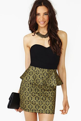 Midas Peplum Dress