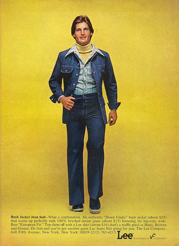 More jean-on-jean action —it never gets old.