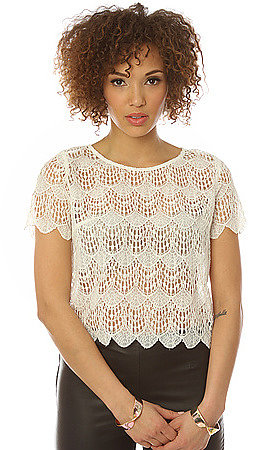 *MKL Collective The Sweet Tea Lace Top in Ivory