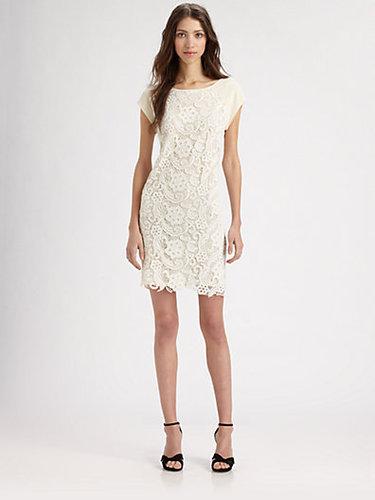 Rebecca Taylor Silk & Lace Sheath Dress