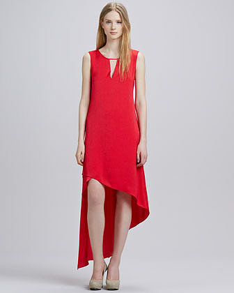 BCBGMAXAZRIA Asymmetric-Hem Keyhole Dress
