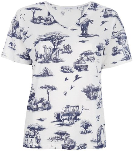 Carven jungle print t-shirt
