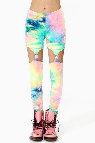 Color Trip Garter Leggings