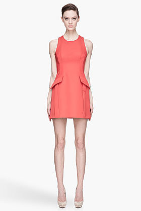 MCQ ALEXANDER MCQUEEN Scarlet red Party Dress