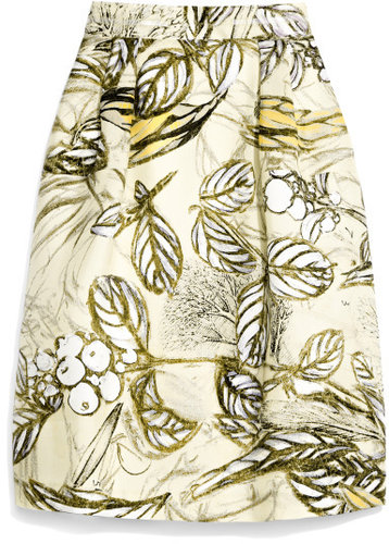 Honor Tree Print Organza Skirt