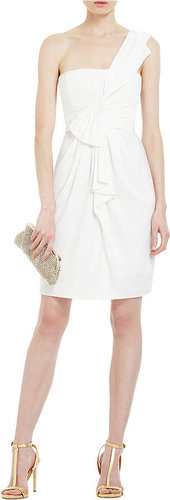BCBGMAXAZRIA One Shoulder Short Cocktail Dress