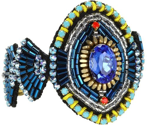 Ayana Designs - Tribal Cuff Bracelet (Crystal/Neon) - Jewelry