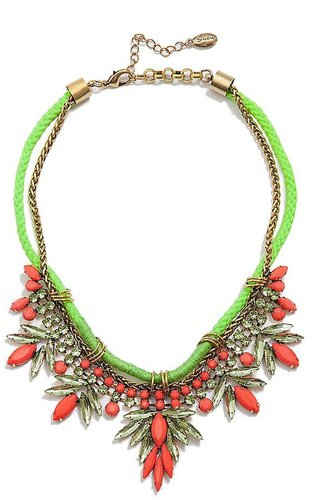 Beaded Neon Statement Necklace