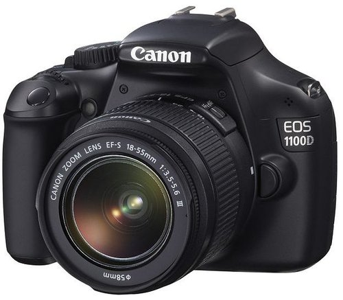 Canon EOS 1100D (EF-S 18-55mm f/3.5 - 5.6 III Lens) (12MP, 2.7 inch LCD) Digital SLR Camera