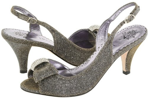 J. Renee - Dayna (Pewter Glimmer Fabric) - Footwear