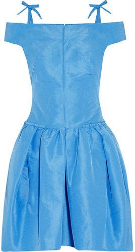 Carven Off-the-shoulder taffeta dress