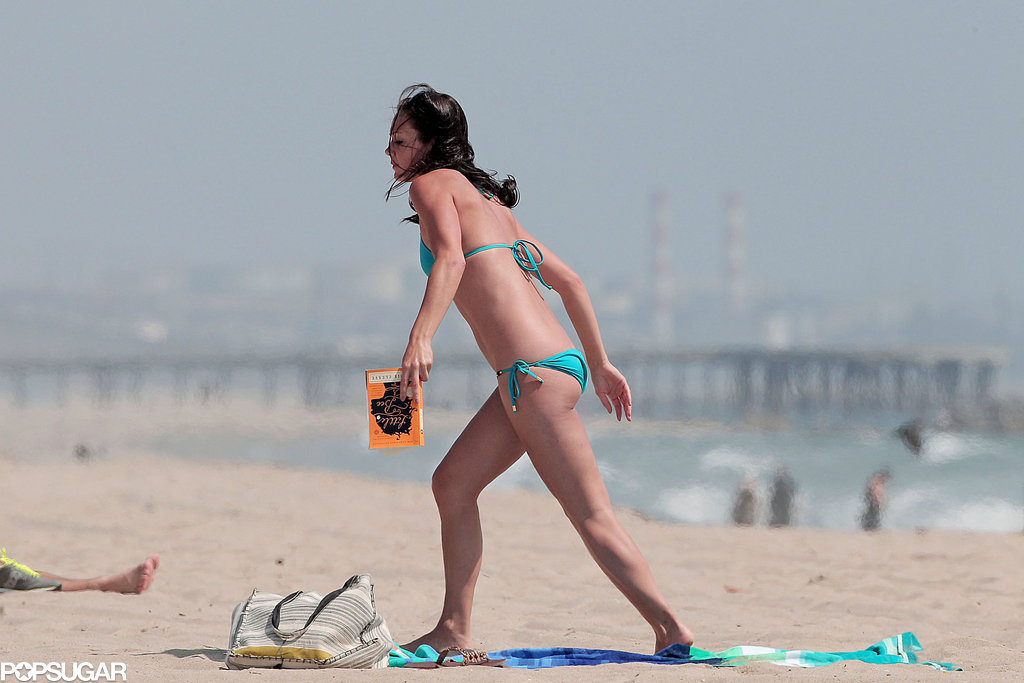 Desiree Hartsock spent some time in the sun.