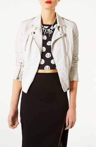 Topshop 'Wylde' Faux Leather Biker Jacket