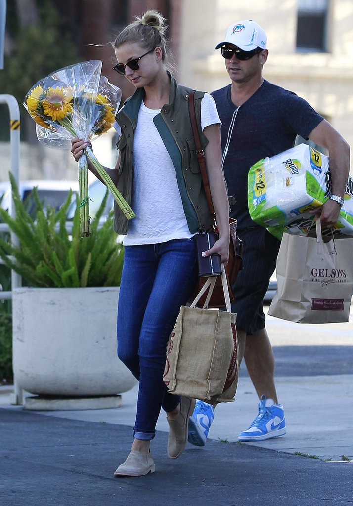 Emily VanCamp made her grocery shopping run so much cooler by throwing this Costa Blanca cargo vest ($69) over a white tee and skinny denim.
