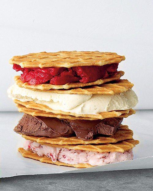 Ice Cream Waffle Sandwiches
