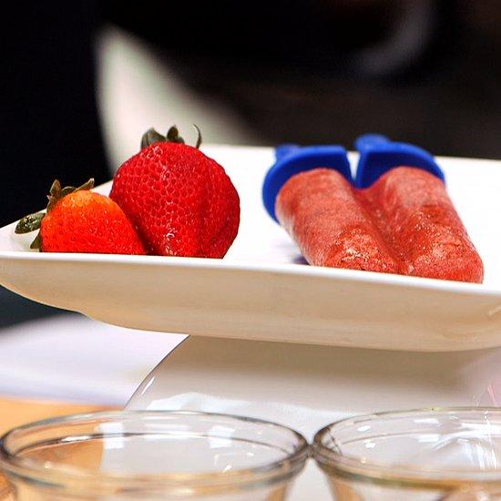 Strawberry-Basil Limeade Popsicle Recipe