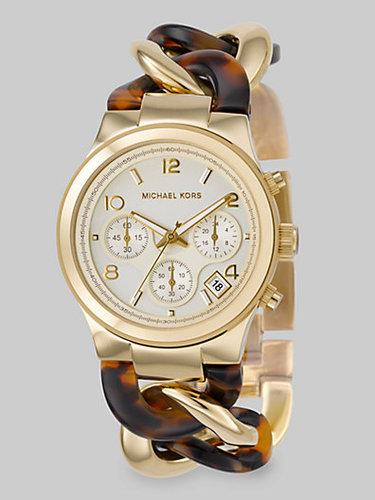 Michael Kors Tortoise Link Chronograph Watch