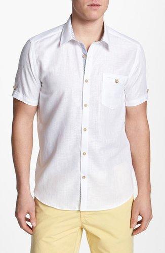 Ted Baker London 'Mytime' Linen Blend Campshirt